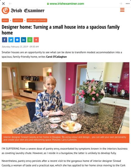 Irish Examiner - feature on my house