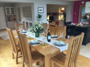 Open plan dining areas