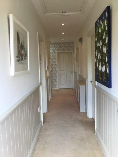 Hallway redesign with wainscotting