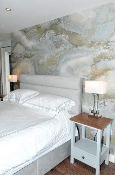Bedroom design showing mural detail