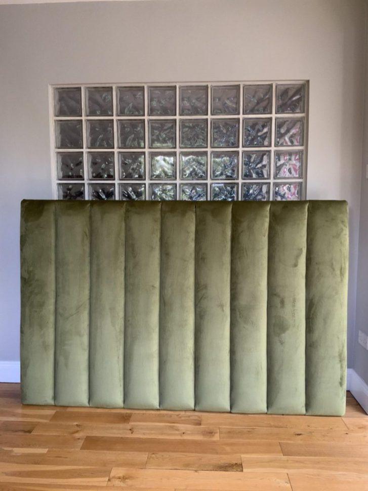 Super-king-size-green-velvet-vertical-panelled-headboard-scaled