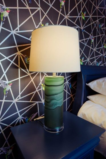 Home of the Year collaboration - tall green lamp from @Interiosity