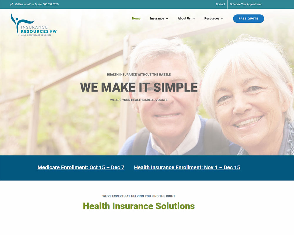 Website Redesign - Insurance Resources NW