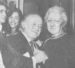 Nubar Terziyan, 1936 yılında hayatını birleştirip, dört yıl önce kaybettiği, 40 yıllık hayat arkadaşı Katerin Hanım'la...