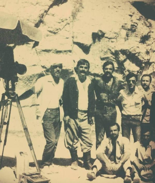 Gani Turanlı, Hayati Hamzaoğlu, Ayhan Işık, Feyzi Tuna (Dağlar Kartalı film seti)