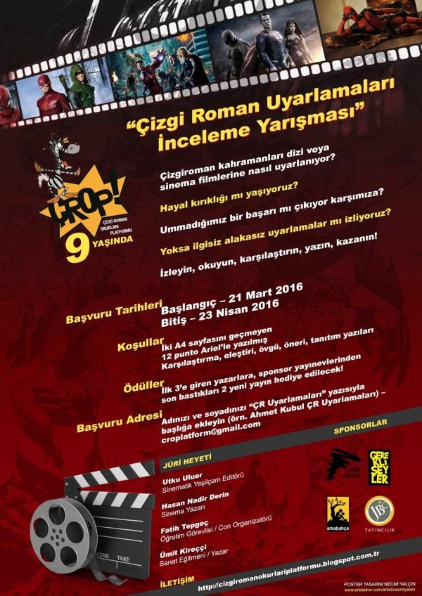 poster Çizgi Roman Uyarlamaları İnceleme Yarışması