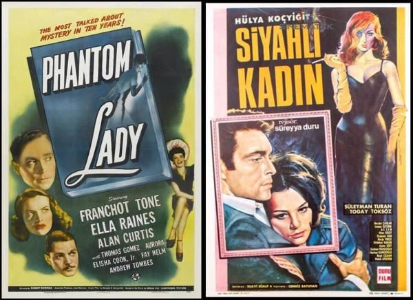 siyahlı kadın vs phantom lady