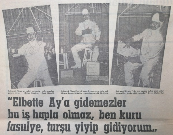 Astronot Niyazi Gazetelerde