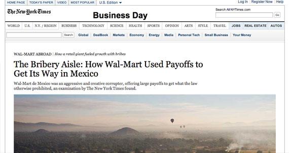 Walmart No Fue Victima De La Cultura De La Corrupcion En Mexico Fue El Corruptor Comprueba New York Times Sinembargo Mx