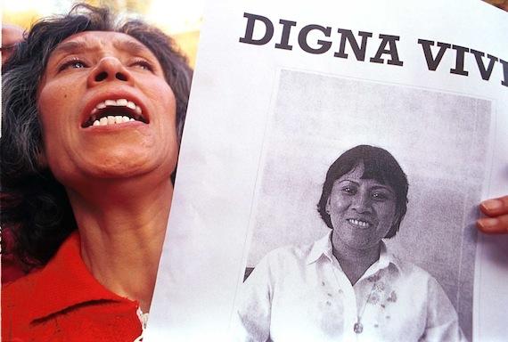 La activista Digna Ochoa fue asesinada en 2001. Foto: Cuartoscuro