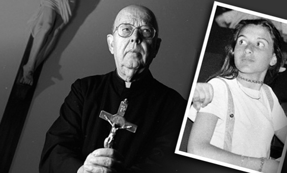 Gabriele Amorth, exorcista del Vaticano, y Emanuela Orlandi
