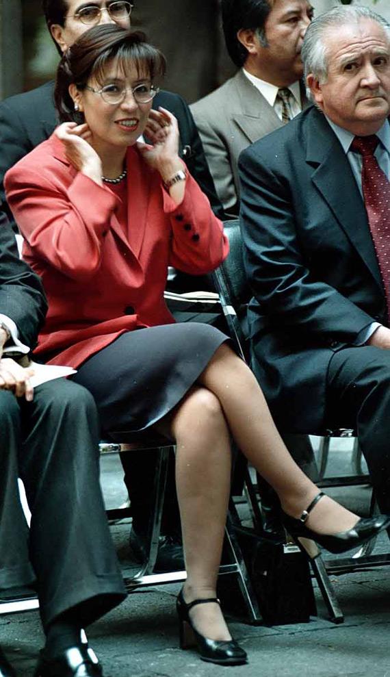 Rosario Jefa de Gobierno. Salinas ya rondaba. Foto: Cuartoscuro