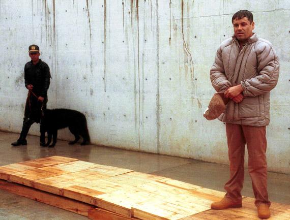 """La presentación de """"El Chapo"""", tras la captura. Foto: Cuartoscuro"""