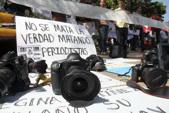 Manifestaciones para exigir que frena la violencia contra periodistas. Foto: Cuartoscuro.