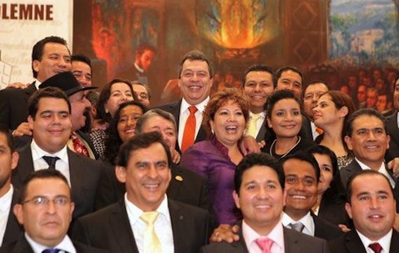 En la sesión para conmemorar la sesión de la instalación del primero congreso de Anáhuac. Foto: Especial.