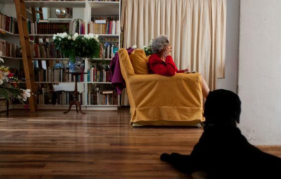 En su casa de Chimalistac. Foto: Antonio Cruz, SinEmbargo