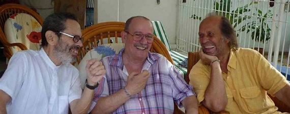 Silvio Rodríguez, Leo Brower y Paco de Lucía. Foto: Blog de Silvio Rodríguez, Segunda Cita