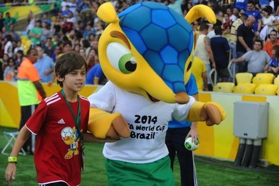"""La FIFA no ha hecho nada hasta ahora para crear conciencia sobre la desaparición del """"tatu-bola"""". Foto: EFE"""
