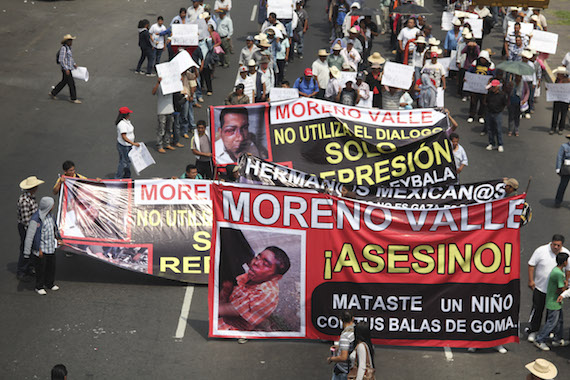El gobierno de Puebla prometió garantizar la libertad de expresión y manifestación de quienes acudan a la marcha. Foto: Cuartoscuro.