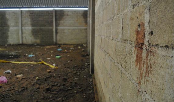 La bodega marcada con sangre. Foto: Esquire