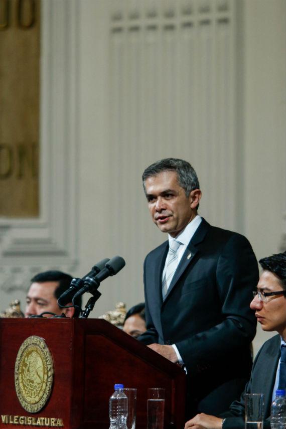 Mancera habló sobre temas pendientes, pero no de manera clara: especialistas. Foto: Francisco Cañedo, SinEmbargo