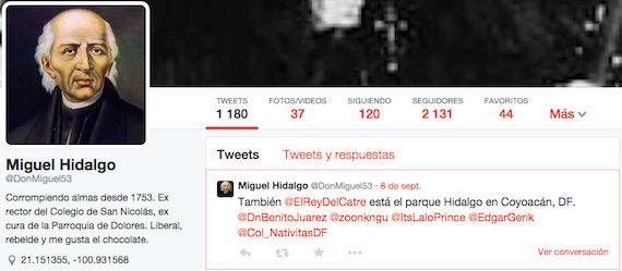 La variedad de personajes históricos mexicanos es amplia en Twitter. Foto: Screenshot