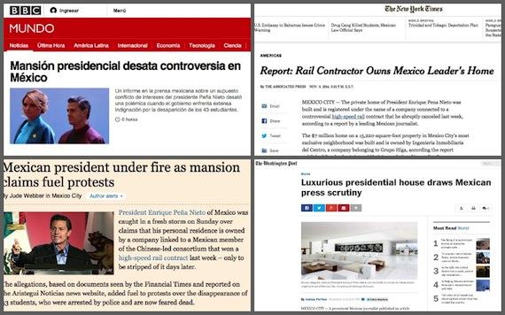 Medios internacionales reseñan el escándalo de la mansión presidencial. Foto: Especial.