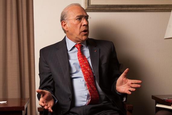 Gurría Treviño, durante la conversación con SinEmbargo. Foto: Antonio Cruz, SinEmbargo