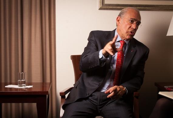 Gurría Treviño realizó una visita de cuatro días a México, en la que presentó una serie de convenios y estudios. Foto: Antonio Cruz, SinEmbargo