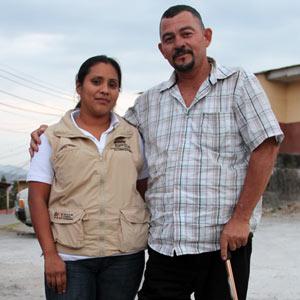 Karen Nu?n?ez de Conamiredis y Norman Varela de Amiredis Honduras.