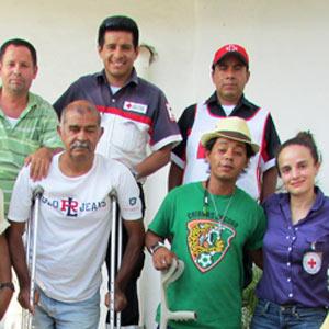 Un grupo de migrantes