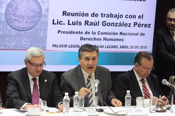 Luis Raúl González Pérez compareció ante legisladores de San Lázaro. Foto: Francisco Cañedo, SinEmbargo.