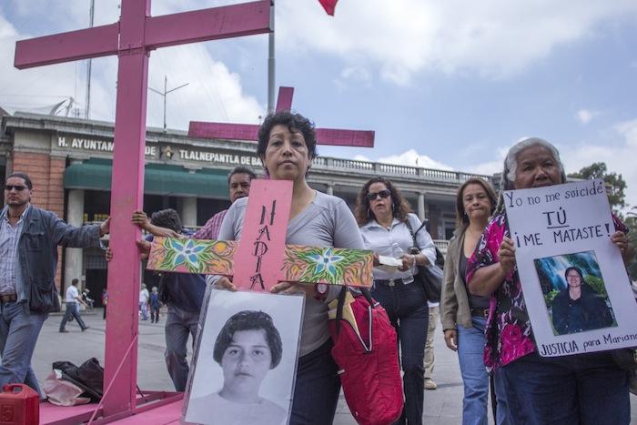 Manifestación contra el feminicidio en Tlalnepantla, Estado de México. 25 septiembre 2014. Foto: Cuartoscuro.