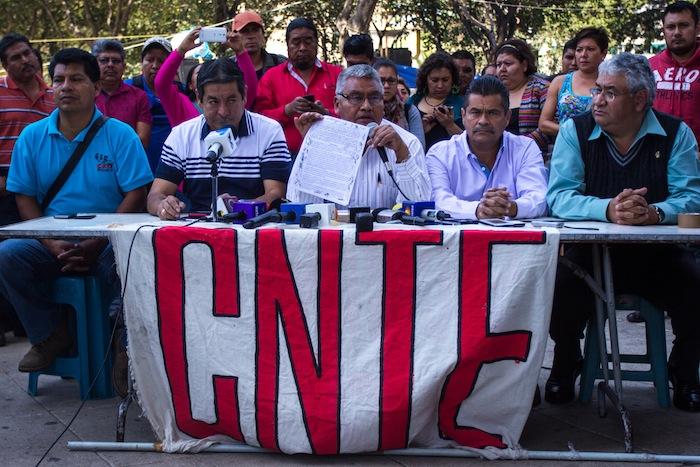 Rubén Nuñez, Dirigente de la sección 22 de la CNTE en Oaxaca Foto: Cuartoscuro