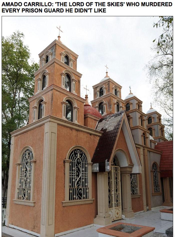 """Mausoleo de """"El Señor de los Cielos"""". Foto: Captura de pantalla"""