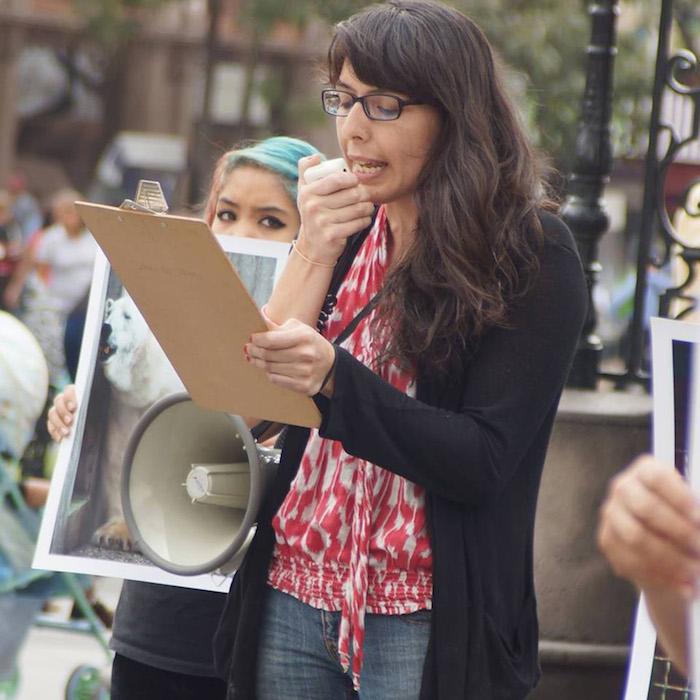"""""""Investigamos, educamos y liberamos, es así como enfocamos nuestras acciones"""", explica la activista que radica en Guadalajara."""