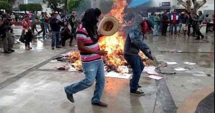 En Guerrero se reportó quema de casillas. Foto: El Sur