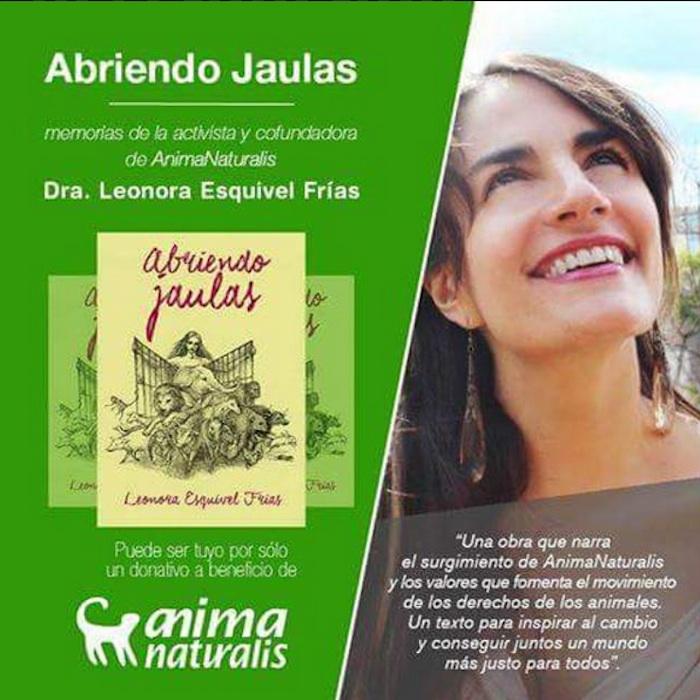 Para Leonora Esquivel el tema de los derechos de los animales es la revolución moral más apremiante del presente siglo. Foto: Twitter.