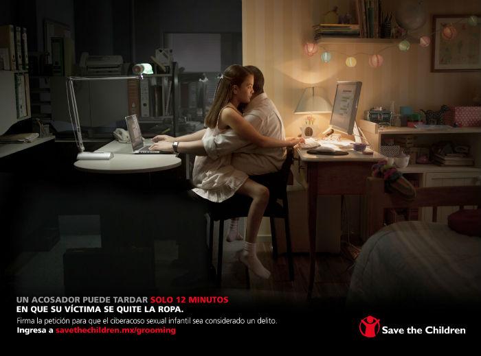 Imagen oficial de la campaña #ContraelGrooming en México. Foto: Save The Children