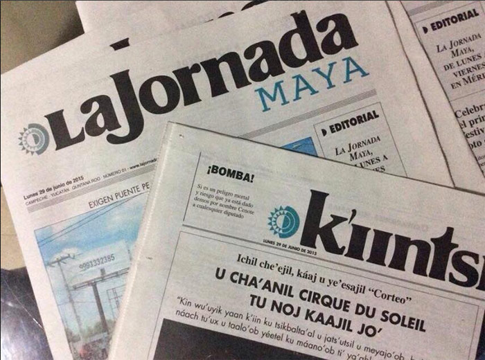 Imagen de la edición de La Jornada Maya en México publicada en Twitter por @YUCATANALMINUTO