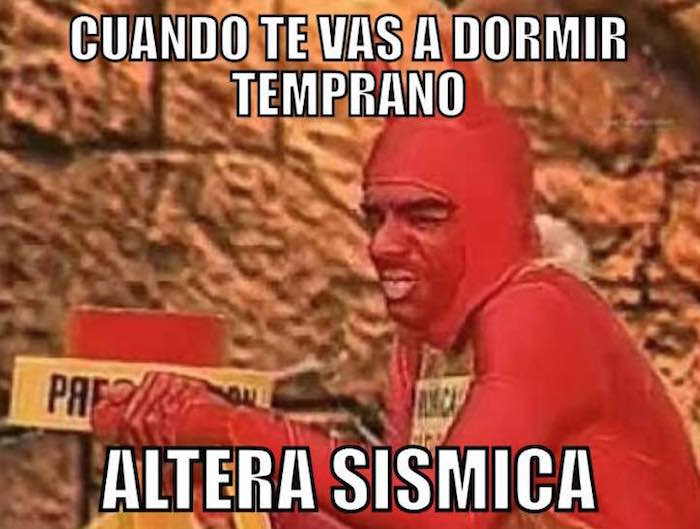 Meme diablito alerta sismo