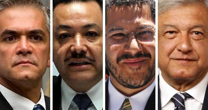 La guerra entre manceristas y obradoristas está abierta: Mancera, Serrano, Batres y López Obrador, son sus protagonistas. Foto: SinEmbargo