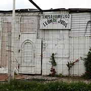 Iglesia protestante en el mismo lugar. Foto: Humberto Padgett, Sinembargo