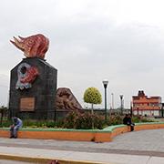 Parque construido por Antorcha Campesina en Chimalhuaca?n, un monumento que hace a si? misma la organizacio?n con recursos pu?blicos. Foto: Humberto Padgett, Sinembargo