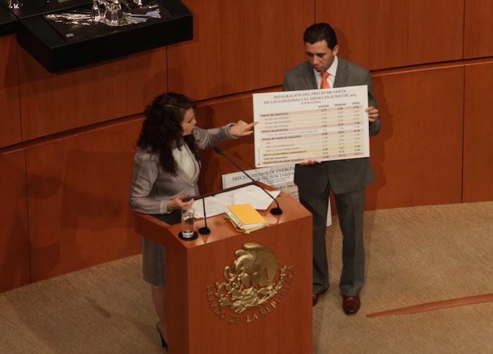 La Senadora Dolores Padierna criticó el aumento de impuestos. Foto: Francisco Cañedo, SinEmbargo