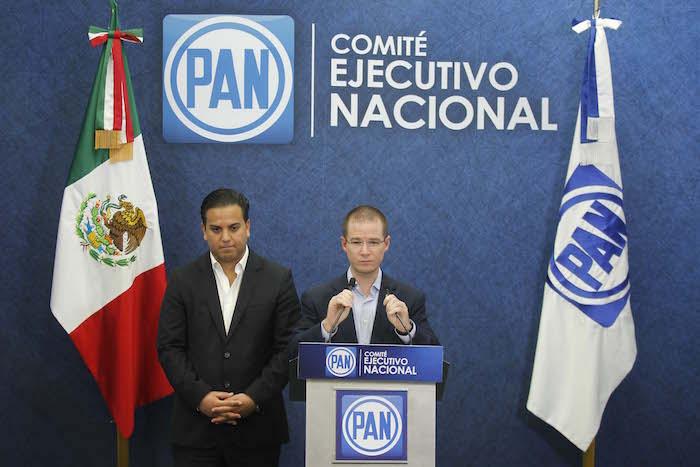 Ricardo Anaya, presidente nacional del PAN, en la presentación de su propuesta de seguridad. Foto: Luis Barrón, SinEmbargo.