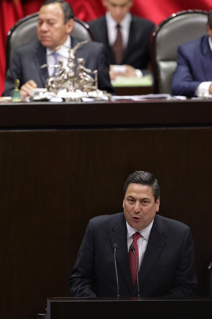 El Diputado Baltazar Hinojosa Ochoa durante la sesión ordinaria de la Cámara de Diputados. Foto: Francisco Cañedo, SinEmbargo