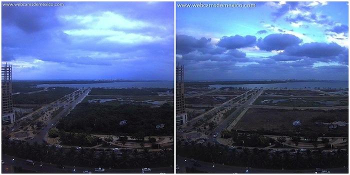 Malecón antes y después. Fotos: Twitter y Facebook.