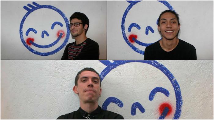 Los chicos de la imprenta Macolen, que comparten espacio y proyectos con el Zena. Foto: Valentina López.