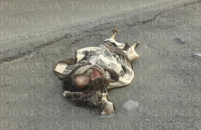 Una mujer fue ejecutada y su cuerpo envuelto en cobijas abandonado en la ciudad de Apatzingán, Michoacán. Foto: Provincia